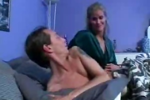 mama wakes son for hard sex