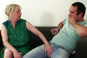repairmen gangbang breasty grandma from one as