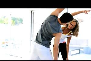 puremature big-titted milf seduces her yoga
