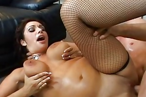 angelic brunette milf with large bazookas getting