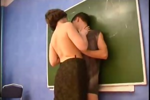 geometry teacher seduces youthful guy.