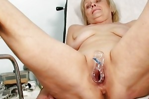 ribald blond granny acquires her slit gaped at