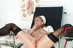 slim mother i nora opens bawdy cleft with