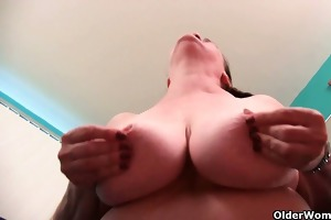 granny nurse takes care of her itching cum-hole