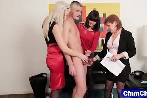 cfnm fetish mistresses eat jock