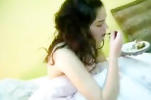 mexican legal age teenager eating cake, dick and