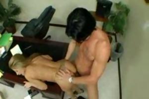 secretary nails her boss large pounder