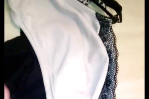 cum over wifes brassiere and pants