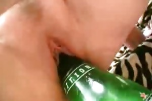 kims vagina inserted with a huge bottle