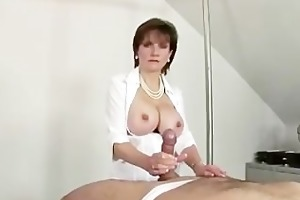 serf gets his pounder titty drilled by goddess