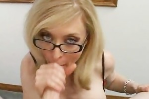 blond mamma in glasses licking unbending part1