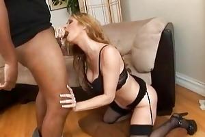 white mother i in hawt lingerie engulfing