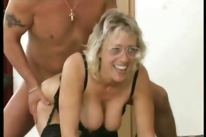 large tit granny trio