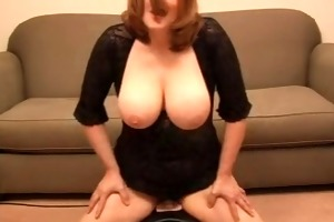 breasty wife riding a sybian