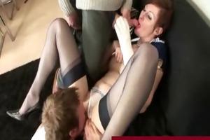 boys fucking a older stewardess