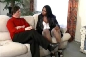 black beauty acquires analfucked in nylons