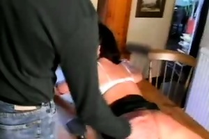 wife steph takes red hawt spanking