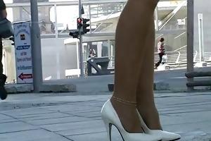 stockings und high heels outdoor - megageile sau