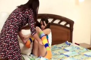 aged roommate teaches excited lesbo legal age