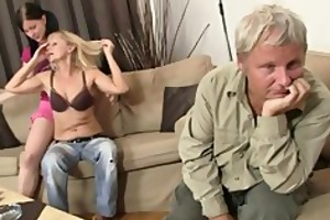 gf rides her bfs daddy weenie after lezzie with