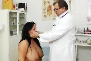 adult toy in twat during a wife gyno