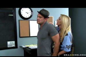 hawt large tit blond cop is fucked hard by