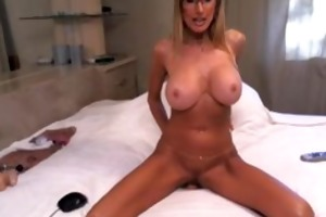 breasty older blond with consummate body