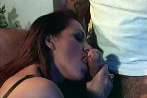 mature pornstar sucks dong for facial