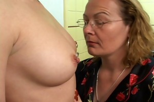 aged woman can em youthful dumb and full of cum