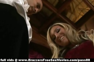 alluring busty blond sweetheart in underware