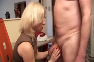 favourable older man acquires a nice blowjob