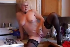 very hawt grandma has a soaking moist pussy
