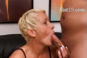 blonde older having twat fisted hard