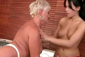 grannies vs youthful beauties hard sex compilation