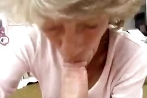 wife granny gives captivating sucks to husband