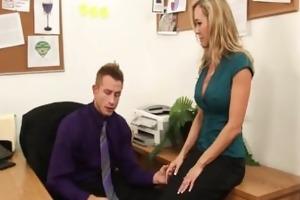 large tit secretary brandi love gets tit drilled