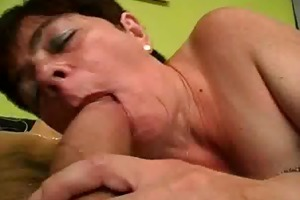 finger group-fucked and schlong sucking granny