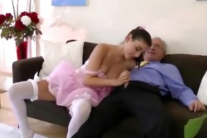 indecent juvenile doxy sucks old pecker